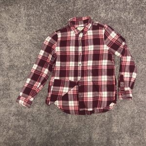 Tops - Button Up Pink Flannel Shirt